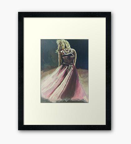 The Pink Dress Framed Print
