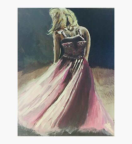 The Pink Dress Photographic Print