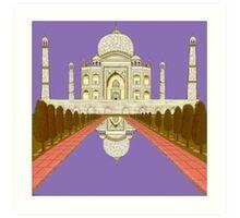 A Still Day in Agra (purple) Art Print