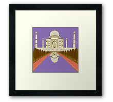 A Still Day in Agra (purple) Framed Print