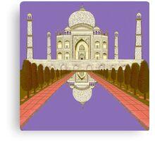 A Still Day in Agra (purple) Canvas Print