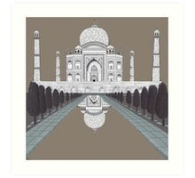 A still day in Agra (sepia) Art Print