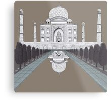 A still day in Agra (sepia) Metal Print