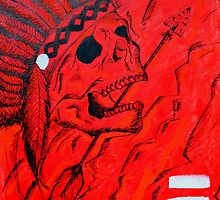 Red Native American Skull by ArielleAlysse
