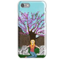 Earth song; girl with white tigers iPhone Case/Skin