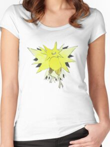 Ditto Zapdos Women's Fitted Scoop T-Shirt