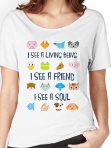 Animals in Origamy Style  Women's Relaxed Fit T-Shirt