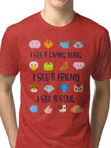 Animals in Origamy Style  Tri-blend T-Shirt