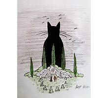 God-Cat Photographic Print