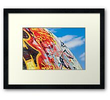 planet graffiti Framed Print