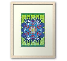 1206 - Circle Rectangle Before Green Framed Print