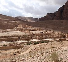 Jordan - Petra - Petra Great Temple across valley by Ren Provo