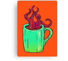 Octopus Coffee Canvas Print
