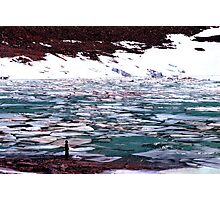 Vast, Ice, Alone, Glacier, Jasper National Park, Canada Photographic Print