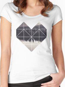 Geometric art - heart Women's Fitted Scoop T-Shirt