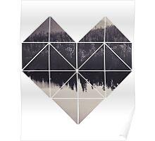Geometric art - heart Poster