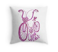 Cycle Chic Throw Pillow