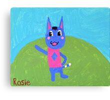 Animal Crossing Series- Rosie Canvas Print