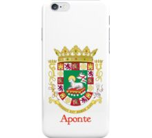 Aponte Shield of Puerto Rico iPhone Case/Skin