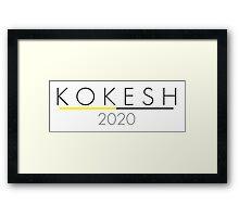 KOKESH 2020 Presidential Logo Design Framed Print