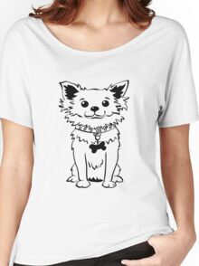 Funny chihuahua dog sitting Women's Relaxed Fit T-Shirt