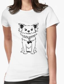 Funny chihuahua dog sitting Womens Fitted T-Shirt