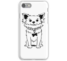 Funny chihuahua dog sitting iPhone Case/Skin
