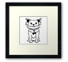 Funny chihuahua dog sitting Framed Print