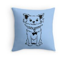 Funny chihuahua dog sitting Throw Pillow