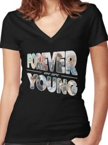 BTS - Young Forever Women's Fitted V-Neck T-Shirt
