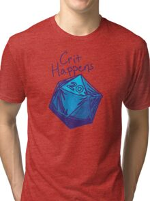 Crit Happens D20 Gamer | Natural 20 Tri-blend T-Shirt