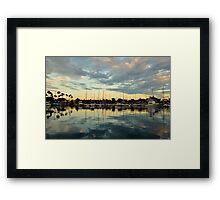 Shoreline Village Marina Framed Print