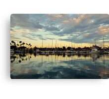 Shoreline Village Marina Canvas Print