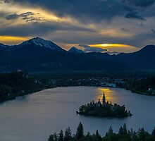 Dawn over Lake Bled by Nick Jenkins
