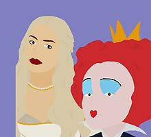 white and red queen  by emilyap