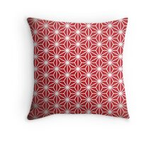 Japanese red star Throw Pillow