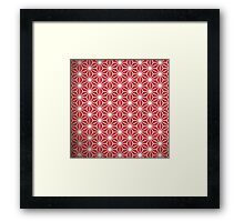 Japanese red star Framed Print