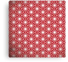 Japanese red star Canvas Print