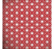 Japanese red star Photographic Print