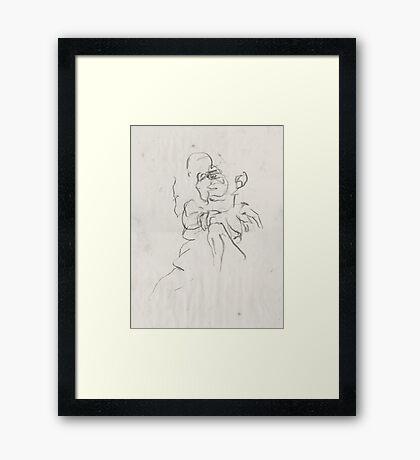 Seated Figure  Framed Print