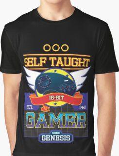 Self Taught Gamer of the 16-Bit Era Graphic T-Shirt