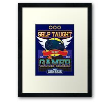 Self Taught Gamer of the 16-Bit Era Framed Print