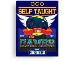 Self Taught Gamer of the 16-Bit Era Canvas Print
