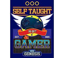 Self Taught Gamer of the 16-Bit Era Photographic Print