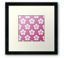 Sakura Pillow Framed Print