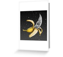 Moon Banana! Greeting Card