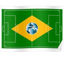 Brazil football field Poster