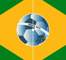 Brazil football field Sticker