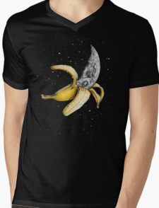 Moon Banana! Mens V-Neck T-Shirt