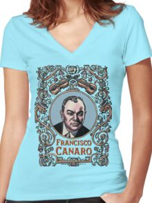 Francisco Canaro Women's Fitted V-Neck T-Shirt